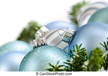 Christmas ornaments - Many Christmas decorations laying in...