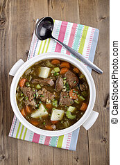 home made traditional irish lamb stew - irish lamb stew with...