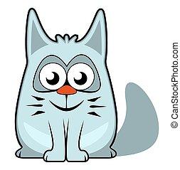blanco, caricatura, Plano de fondo, gato