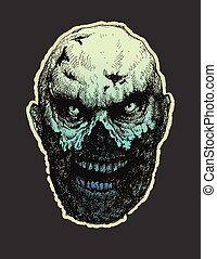Zombie. Hand drawn. Vector illustration eps8 - Zombie. Hand...