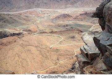 Egypt, Moses Mountain. Way to the top - Egypt, Mount Sinai,...