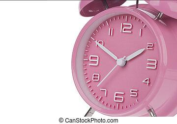 rosa,  10, reloj, alarma,  2, Manos