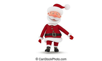 3d Santa Claus walks - Christmas walk to the North Pole