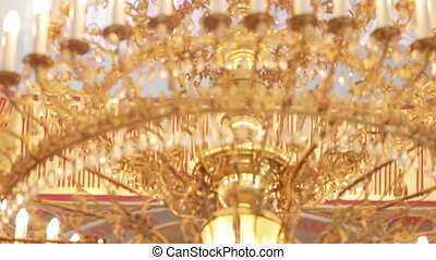 Chandelier in the church