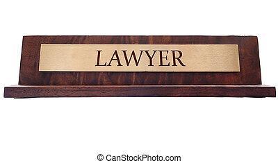 Lawyer name plate - Wooden nameplate with Lawyer engraved...