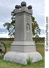 Memorial Monument, Gettysburg, PA - Halls Second Maine...