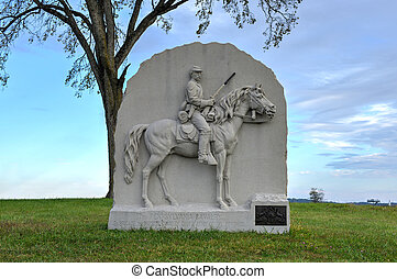 Memorial Monument, Gettysburg, PA - 17th Pennsylvania...