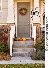 Halloween decor - Residential house decorated for Halloween...
