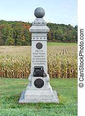 Memorial Monument, Gettysburg, PA - 147th New York Infantry...