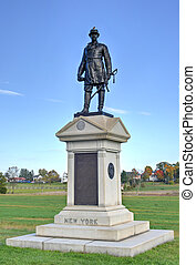 Memorial Monument, Gettysburg, PA - Abner Doubleday Memorial...