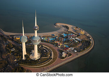 Kuwait from the sky - Some famous places in kuwait from the...