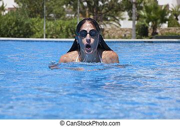 frente, natación, Estilo pecho