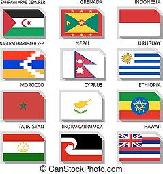 Flags of the world - Flags of world, flat vector...