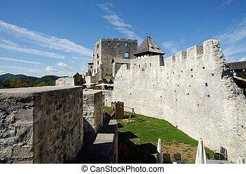 Yard of Celje medieval castle in Slovenia - Celje medieval...