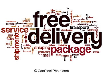 Free delivery word cloud concept