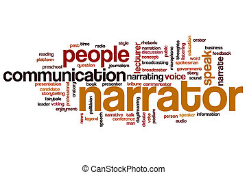 Narrator word cloud concept