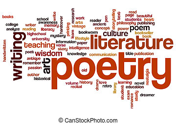 Poetry word cloud stoc...