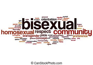 Bisexual, palabra, nube,