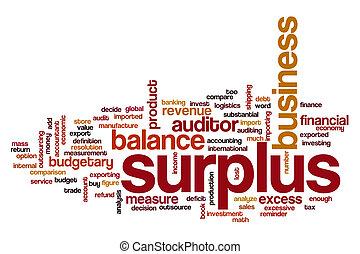 Surplus word cloud concept