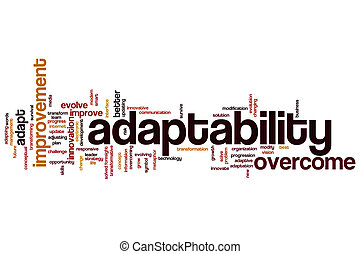 Adaptability word cloud concept