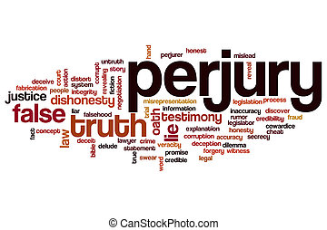 Perjury word cloud concept