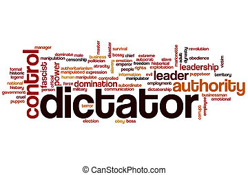 Dictator word cloud concept