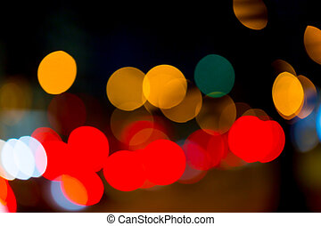 street trafic lights as background - Photo of bokeh street...