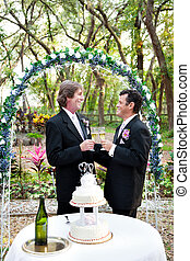Happy Gay Couple Gets Married
