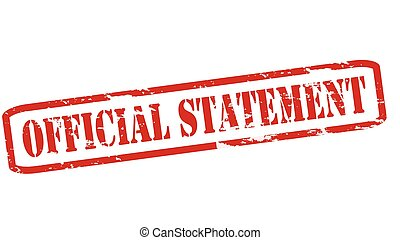 Official statement - Rubber stamps with text official...