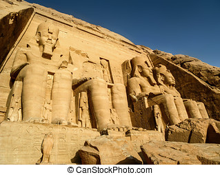 Great Temple at Abu Simbel, Egypt - The Great Temple of...