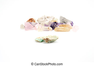 Crude gemstones semiprecious gem amethyst