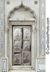 door in Amritsar - ornamented door in a city named Amritsar...