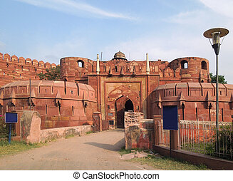 Agra Fort - the Agra Fort in Agra in Uttar Pradesh, India