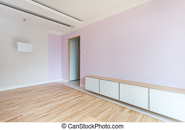 Spacious room in pastel colors - Spacious empty room in...