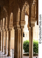 Moorish arches, Alhambra, Spain