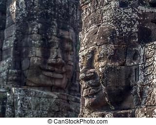 Bayon Temple at Angkor, Cambodia