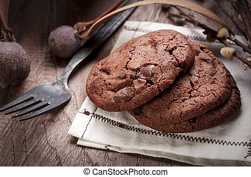 Chocolate chip cookies. - Homemade chocolate chip cookies in...
