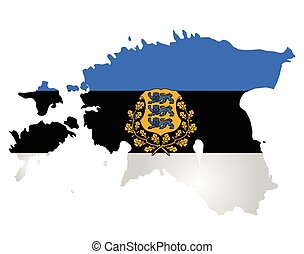 Estonia Flag - Flag and coat of arms of the Republic of...