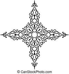 cristão, crucifixos, desenho,