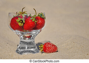 Strawberry in a glass