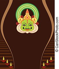 Kathakali Face Mask, Paint Vector Art