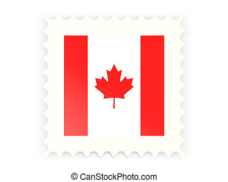 Postage stamp icon of canada isolated on white