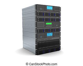 server computer - 3d illustration of server rack stand over...