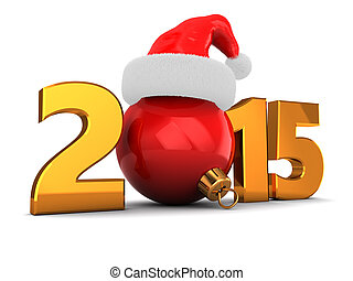 2015 new year - 3d illustration of 2015 new year and...