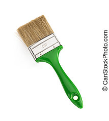 paintbrush on white background - paintbrush isolated on...