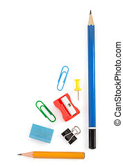 office supplies on white