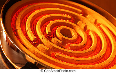 Heating coil - Close up of a heating coil element