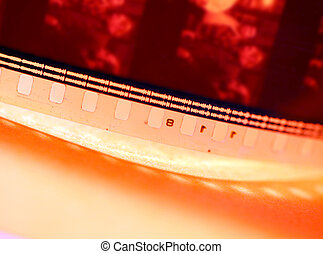Old 35mm film - Close up of an Old 35mm film strip