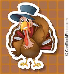 Turkey - illustration of a close up turkey