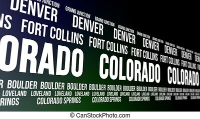 Colorado State Major Cities Banner - Animated scrolling...